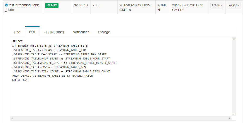 Apache Kylin | Web Interface