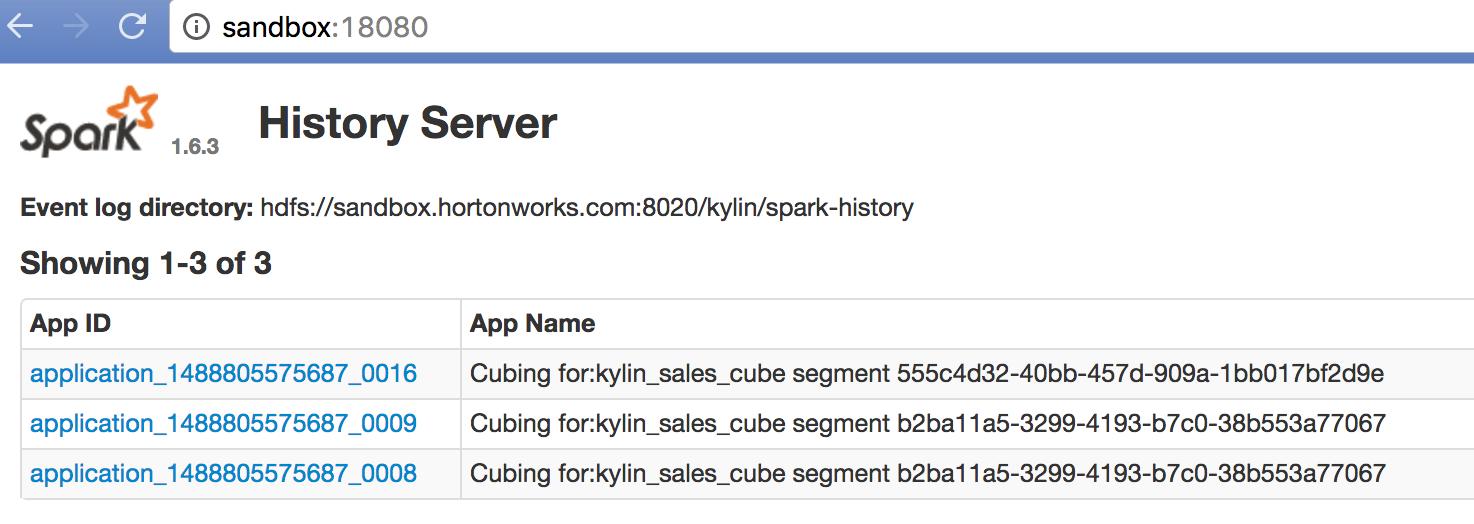 Apache Kylin | Build Cube with Spark